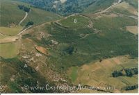 Castros de San Isidro y Pico da Mina. Vista aérea