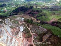 Castro de Llagú o Cegallú. Vista aérea. Foto: Carmen Ruiz Triviño