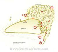Castro de Coaña. Itinerario de visita
