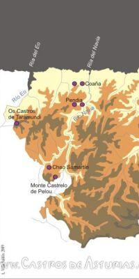 Saunas castreñas documentadas en el territorio Navia-Eo