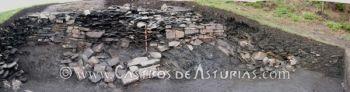 Chao Samartín, Grandas de Salime. Ruina de la muralla Norte