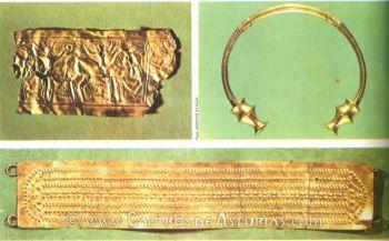 Diademas de Moñes y Cangas de Onís y torques de Langreo