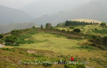 Mina de oro de Arruñada, San Martín de Oscos. Depósito sobre las explotaciones