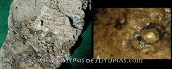 Cerámicas castreñas con restos de oro. Chao Samartín, Grandas de Salime y Castro de San Chuis, Allande