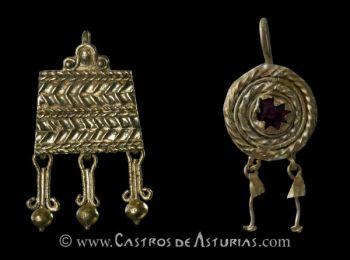 Pendientes de oro. Chao Samart�n y Monte Castrelo de Pel�u, Grandas de Salime