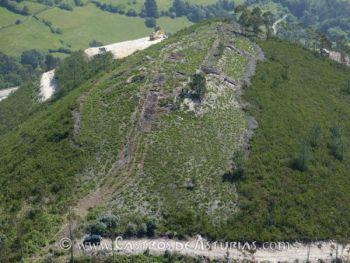Castro de La Forca, Grado. Vista general de la excavación en 2004. Foto: Camino et alii, 2009