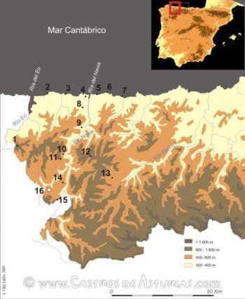 Castros y otros yacimientos visitables en los concejos del Navia-Eo