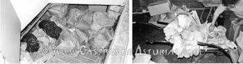 La colección de la Campa Torres durante su descubrimiento en un zulo del Museo