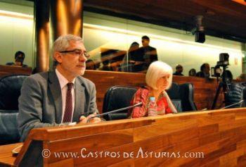 Gaspar Llamazares y Concha Masa, del Grupo Parlamentario de Izquierda Unida