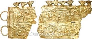 Diadema de oro procedente de Moñes, Piloña (Asturias)