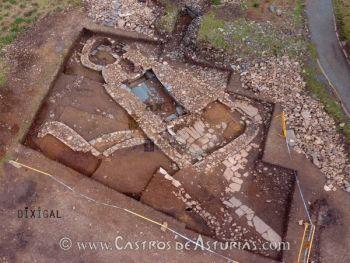 Vista cenital de la sauna de Punta Xarridal (Foto: Axa Arqueología)