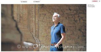 Ángel Villa Valdés en el Museo Arqueológico de Asturias. Foto: Alex Piña para El Comercio
